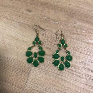 Jewelry - Dark Green Earrings